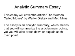 essay summary example toreto co writing a college examples on   16 essay summary example essays on about me 8 how to write a of an article