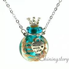 whole glass urn necklace