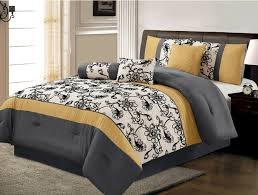 image of grey and yellow bedroom duvet