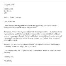Thank You Letter After Job Interview Thank You Letter After Ideas Of