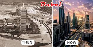 Dubai Before And After One Of The Wealthiest Cities Dubai Was A Barren Desert Before And