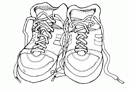 Tennis Shoe Coloring Page - Coloring Pages For Kids And For Adults ...