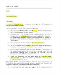 Job Offer Letter Template Word Offer Letter Template Doc Job Offer Letter Template Appointment
