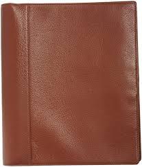 brown leather portfolio binder for file organizer ideas