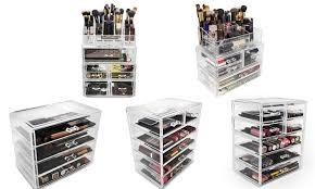 sorbus makeup storage organizer display case set