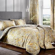 maduri ochre and grey duvet cover sets
