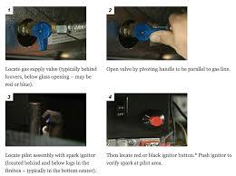 gas fireplace lighting pilot. how to light or relight a pilot on gas fireplace insert stove lighting