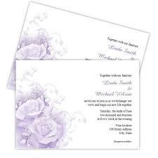 Purple Roses Wedding Invitation Template