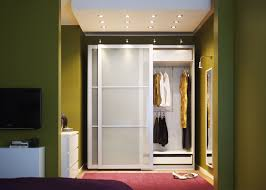 Furniture~ Exquisite Ikea Walk In Closet Design Artwork: Outstanding White Sliding  Wardrobe Door With Elegant Yellow Green Wall And Fancy Pi.