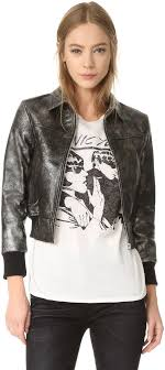 silver leather jackets r 13 r13 berlin leather jacket