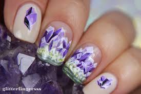 NAIL ART | Amethyst ~ Glitterfingersss in english