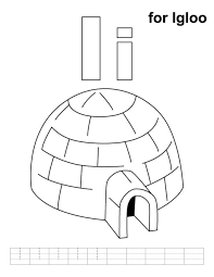 Alphabet Coloring Igloo Coloring Pages Alphabet I Igloo Coloring