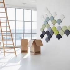 decorative acoustic panels. Ginkgo Decorative Acoustic Panels In Neutrals And Soft Colours Positioned A Beautifully Shaped Wall Installation W