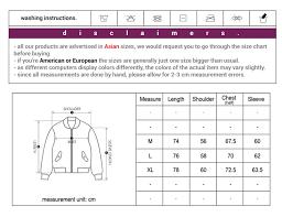 Winter Jacket Size Chart Amber Winter Jacket