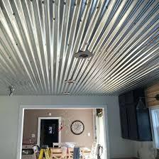 corrugated tin ceiling com metal trim