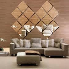 40pcs self adhesive mirror tiles kitchen wall sticker stick on 0 2 mm decor new