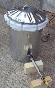 My First Furnace  Garbage Can  Flower Pot Crucible Furnace Backyard Metalcasting