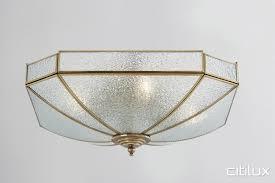 burwood classic brass made flush mount ceiling light elegant range cux