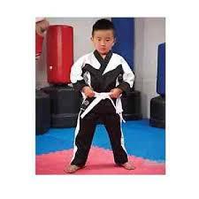 Details About Proforce Demo Team Karate Uniform Martial Arts Gi Pants Black White Kids Adults