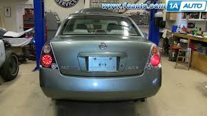 how to install replace change taillight and bulb 2002 06 nissan Audi A3 Tail Light Wiring at 1999 Nissan Altima Tail Light Wiring Harness