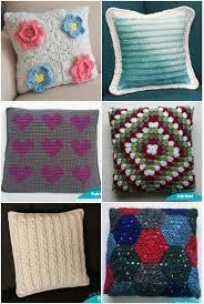 Free Crochet Pillow Patterns Beauteous Cuddle Up With 48 Free Crochet And Knit Pillow Patterns Fairfield