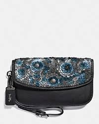 CLUTCH WITH LEATHER SEQUIN ...