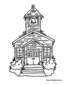 Small Picture School Building Coloring Pages
