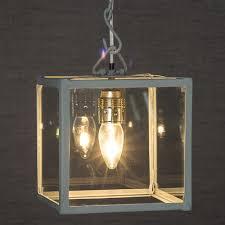 Box Lantern Light Square Box Lantern Pendant Light Glass Lantern Light