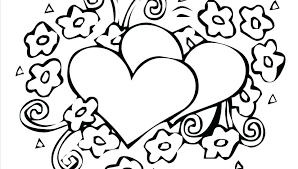 Coloring Pages Valentine Heart Coloring Pages Valentines Choice
