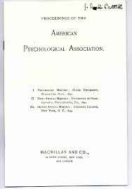 American Psychology Association Format Classics In The History Of Psychology Proceedings Of The American