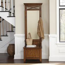Coat Rack Bench With Mirror Decorating Entryway Hall Design With Hall Tree Storage Bench 15