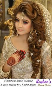 kashees beautiful bridal hairstyle makeup beauty parlour best of stani wedding makeup and hair