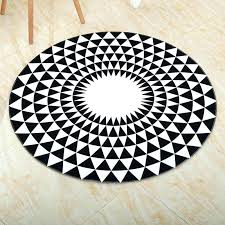 round bath mat mandala geometric pattern round bath rug black white w black and white bath