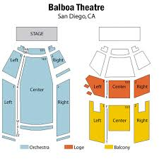 Balboa Theatre Seating Chart Theatre In San Diego