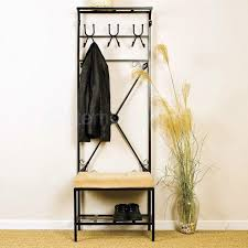 Metal Hall Tree Coat Rack Metal Hall Tree Coat Rack Shoe Storage Bench Picture With Throughout 48