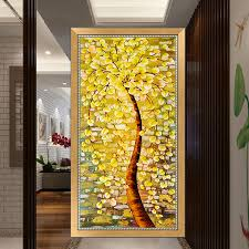 <b>Needlework 5D Diy Diamond</b> Painting Cross Stitch Golden Tree ...