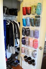 dani miller scarf storage plastic shoe organizer behind the door