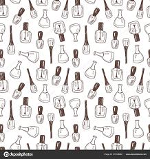 Bezproblémové Vektorové Pozadí Rukou Kreslené Lak Nehty Láhve