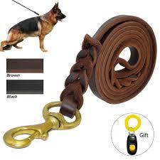 2019 braided leather dog leash pet k9 walking training leash lead for medium large dogs german shepherd gift dog training er from mqj88