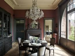 painted dining room furniture ideas. Black Paint Color Base Furniture Ideas Four Pieces Covered Leather Dining Chairs Wall Mounted Tv Painted Room