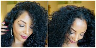 Natural Hair Style Wigs  how to blend natural hair with a curly half wig youtube 5051 by stevesalt.us