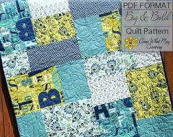 Baby Quilt Pattern Lap Quilt Pattern Jumbo Rails Baby Quilt | Baby ... & Baby Quilt Pattern Lap Quilt Pattern Jumbo Rails Baby Quilt Adamdwight.com
