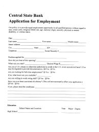 Bank Application CSB Employment Application Central State Bank 1