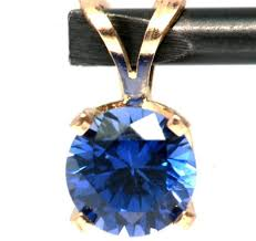 details about 1 40ct genuine blue sapphire solitaire 14k solid yellow gold pendant free ship