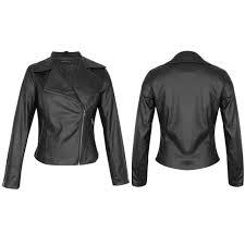 new women biker jacket vintage overcoat side zip faux leather collared coat uk