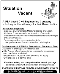 Autocad Draftsman Civil Engineer Autocad Draftsman Jobs In Karachi 2014 April May