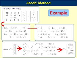5 example jacobi method consider 4x4 case 10 1 2 0 1 11 1 3