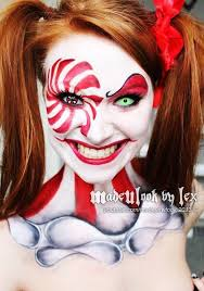 clown makeup tutorial can be found on my you channel madeyewlook this was done using body paint and eyeshadows face off halloween