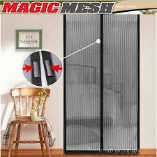 com new magic mesh hands free screen door magnetic anti mosquito bug great for pets home and garden s garden outdoor