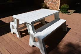 Convert A Bench It s a Picnic Table and a Bench Eighty MPH